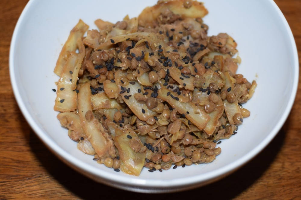 Winter recipe: Cabbage with lentils