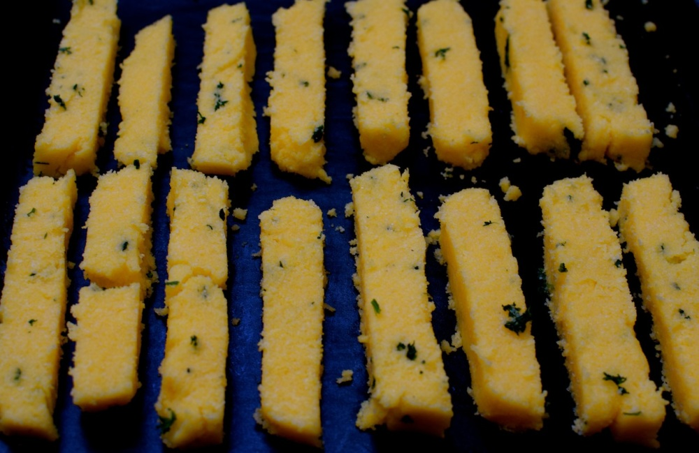 Baked polenta sticks