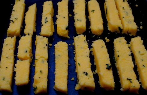 Baked polenta sticks