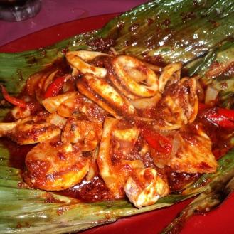 Sambal spicy squid