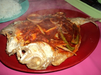 Sambal spicy fish