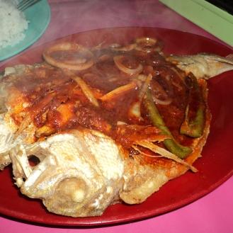 Sambal spicy fish