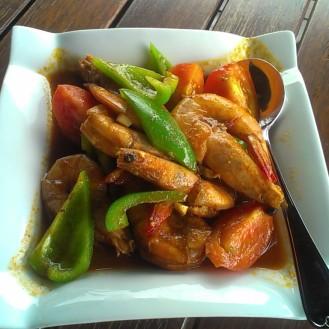 Garlic shrimps for dinner
