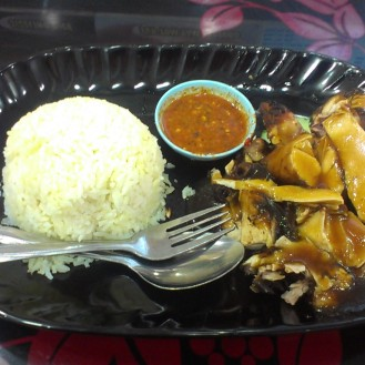 Malaysian asam special (chicken) with peanut chill sauce