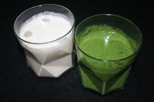 Green and white smoothie